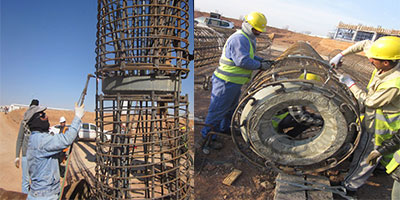 DuSense Hail University Saudi Arabia, Super-Cell BDSL Testing of Working Piles to 675tonne