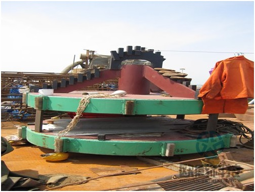 Drilling equipment for test pile1 - Hong Kong Zhuhai Macao Bridge DuSense LLC Project