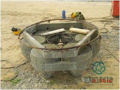 Finish welding of reinforcement hoop to load cell 1 - Zhengzhou New Train Station -DuSense LLC Project