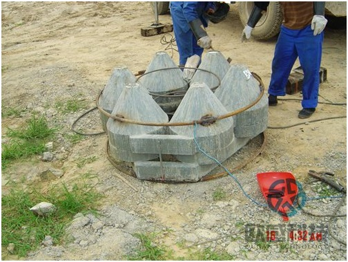 Finish welding of reinforcement hoop to load cell 2 - Zhengzhou New Train Station -DuSense LLC Project