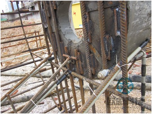 Fix telltale wire rope of test pile -Liuzhou Diwang International Fortune Center DuSense LLC Project