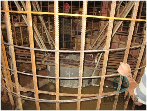 Lower load cell and reinforcement cage -Liuzhou Diwang International Fortune Center DuSense LLC Project