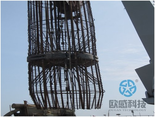 Lower load cell and reinforcement cage- Hong Kong Zhuhai Macao Bridge DuSense LLC Project