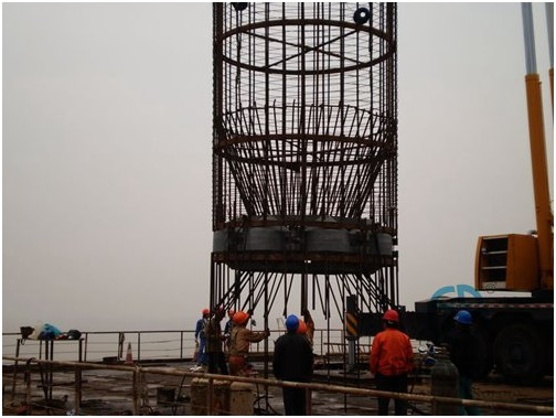 Lower reinforcement cage 1 -Jiaxing - Shaoxing River-Crossing Bridge DuSense LLC Project