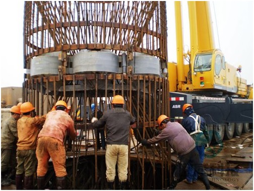 Lower reinforcement cage 2 - Jiaxing - Shaoxing River-Crossing Bridge DuSense LLC Project