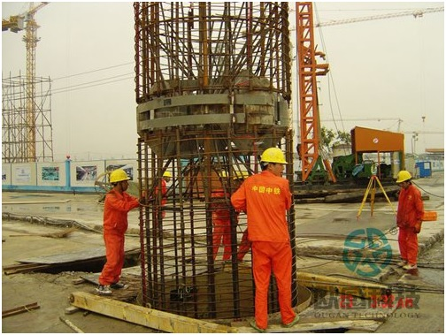 Lower reinforcement cage - Wuxi Metro of Line 1 Civil Square Station - DuSense LLC Project