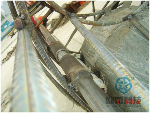 Sounding pipe casing - Wuxi Metro of Line 1 Civil Square Station - DuSense LLC Project