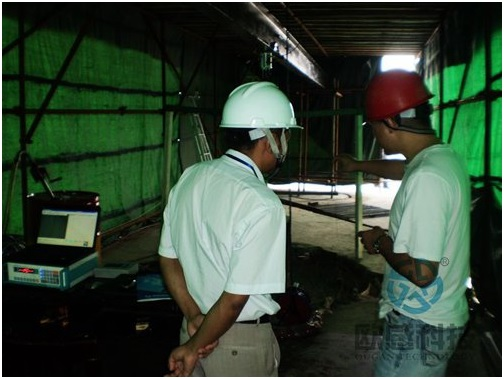 Testing jobsite 2 - Wuxi Metro of Line 1 Civil Square Station - DuSense LLC Project