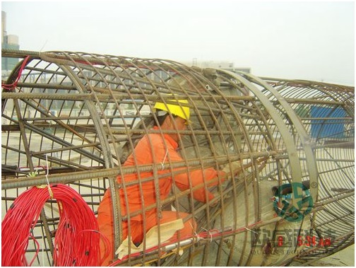 Weld horn reinforcement - Wuxi Metro of Line 1 Civil Square Station - DuSense LLC Project