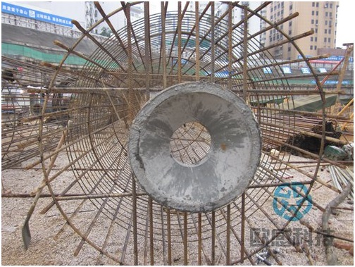 Weld load cell to reinforcement cage -Liuzhou Diwang International Fortune Center DuSense LLC Project
