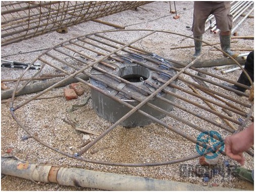 Weld reinforcement bar hoop to load cell -Liuzhou Diwang International Fortune Center DuSense LLC Project