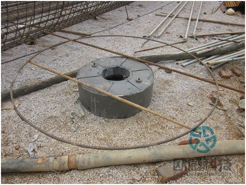 Weld reinforcement bar hoop to load cell1 -Liuzhou Diwang International Fortune Center DuSense LLC Project