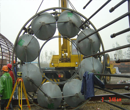 Combination-Super-Cell--BDSL-for-the-Hangzhou-Bay-Bridge-ready-for-installation-in-to-the-rebar-cage - DuSense LLC
