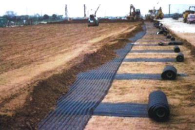 Road and slab Base Reinforcement using Geogrid - DuSense LLC