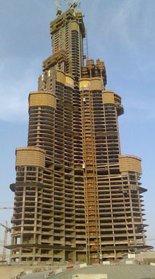 Burj Khalifa under various stages of construction 2005-2010a- DuSense LLC