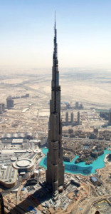 Burj Khalifa under various stages of construction 2005-2010c- DuSense LLC