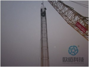 0Lower load cell and reinforcement cage Qianjiang Project South Wiring Channel