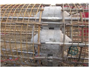 1Complete welding of load cell and reinforcement cage Qianjiang Project South Wiring Channel