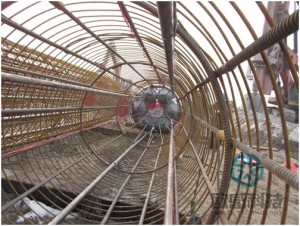 Complete welding of load cell and reinforcement cage Qianjiang Project South Wiring Channel