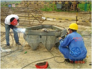 Weld reinforcement hoop to load cell 1 Zhengzhou New Train Station