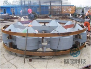 Weld reinforcement hoop to load cell 1 Jiaxing - Shaoxing River-Crossing Bridge