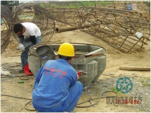 Weld reinforcement hoop to load cell 2 Zhengzhou New Train Station