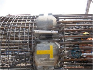 Welding of load cell and reinforcement cage completely Hong Kong Zhuhai Macao Bridge