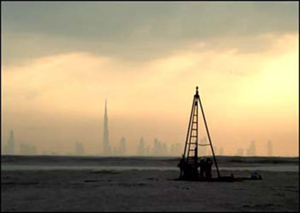 Pilcon-Rig-at-Dubai-World-Islands-project - DuSense LLC
